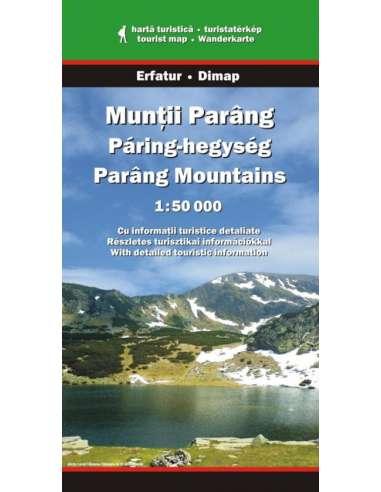 Páring-hegység térkép - Munţii Parâng