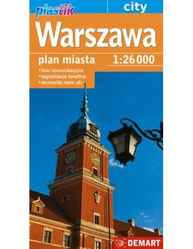 Varsó fóliázott várostérkép