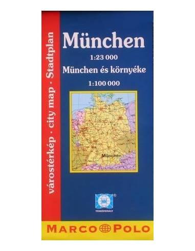 München várostérkép, München és környéke