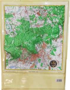 Pécs és környéke dombortérkép