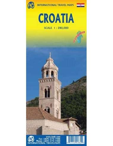 Horvátország térkép - vízálló