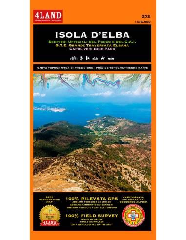 4LAND-202 Isola d'Elba - Elba térkép
