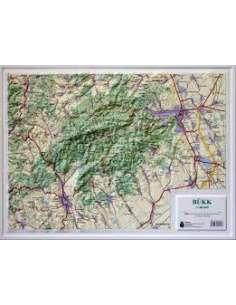 Bükk dombortérképe