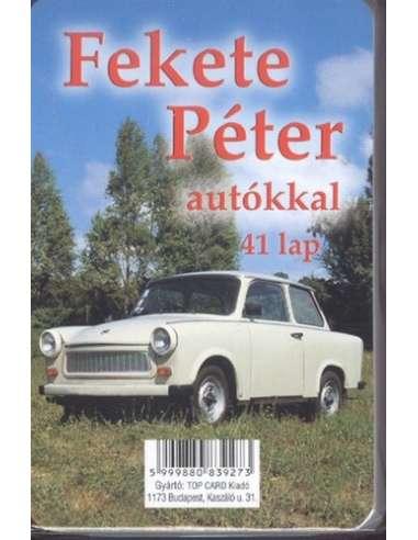 Fekete Péter autókkal játékkártya