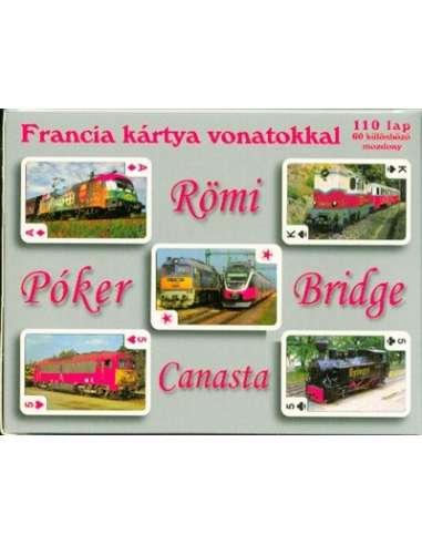 Francia kártya vonatokkal játékkártya