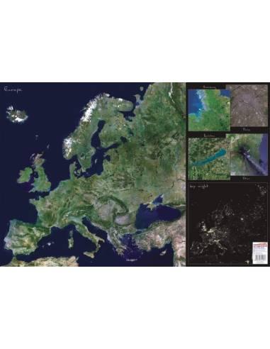 Európa műholdfelvételes kézalátét