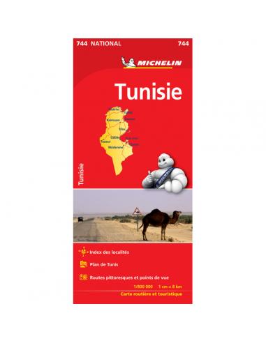 MN 744 Tunisia - Tunézia térkép