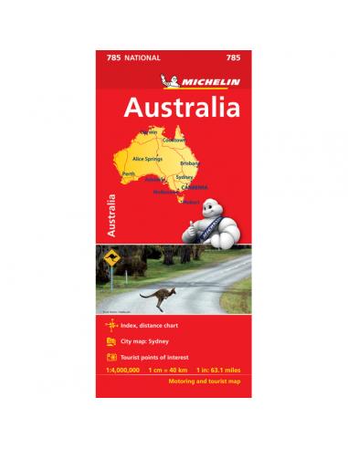 MN 785 Australia - Ausztrália térkép
