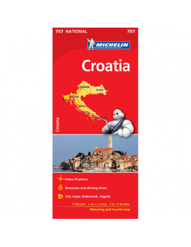 MN 757 Croatia - Horvátország térkép