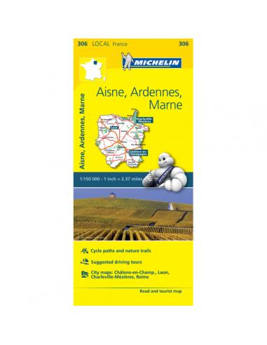 MN 306 Aisne - Ardennek - Marne térkép