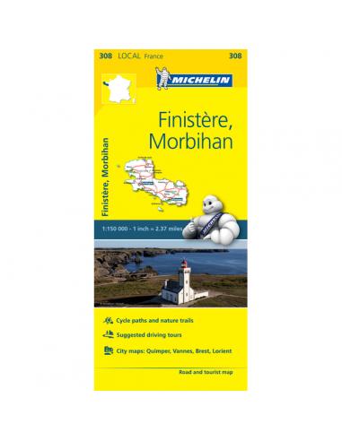 MN 308 Finistére - Morbihan térkép