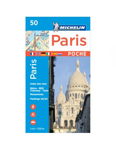 MN 50 Párizs zsebtérkép - Paris pocket