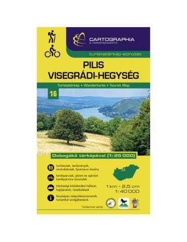 Pilis - Visegrádi-hegység turistatérkép