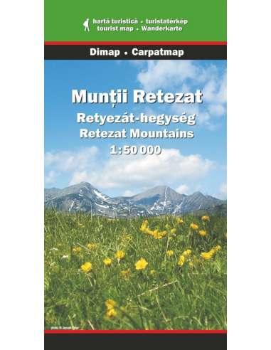 Retyezát-hegység térkép - Munţii Retezat