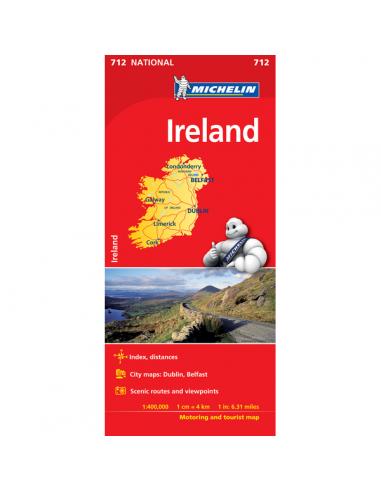MN 712 Ireland - Írország térkép