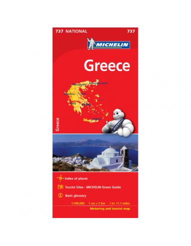 MN 737 Greece - Görögország térkép