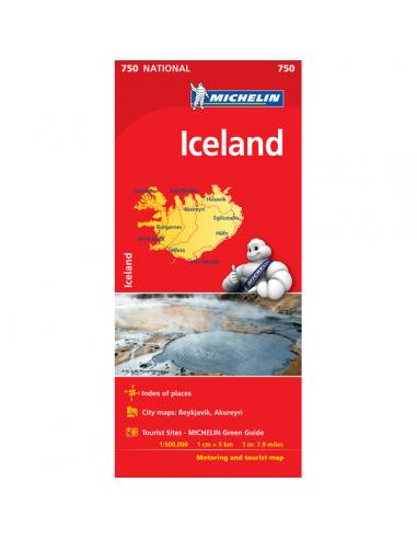 MN 750 Iceland - Izland térkép