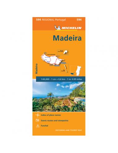 MN 594 Madeira térkép