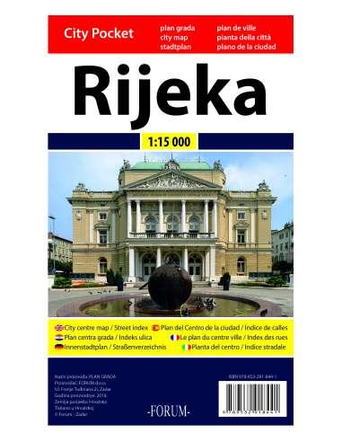 Rijeka City Pocket map - Fiume...