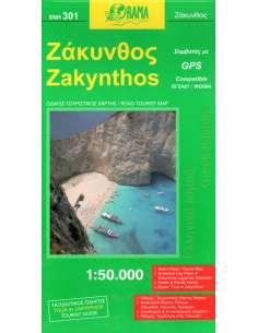 Zakyntos - Zakintosz térkép...