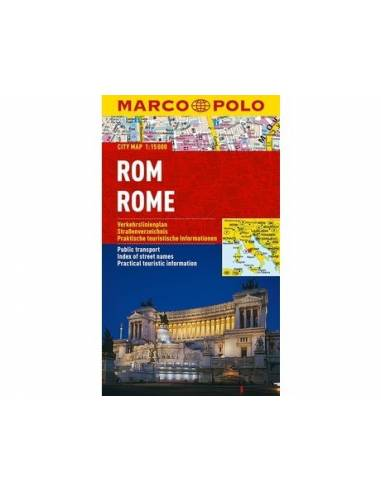 Róma city map lamiált - Marco Polo