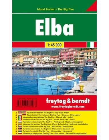 Elba pocket map - Elba laminált...