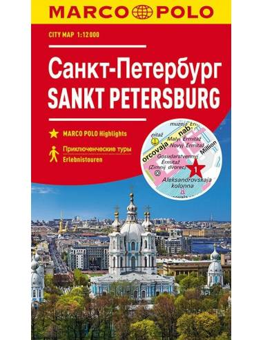 Szentpétervár city map Marco Polo