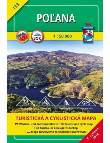 TM 133 Polyána turistatérkép - Poľana