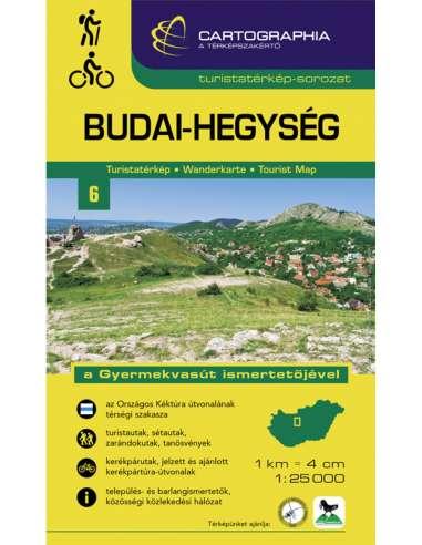 Budai-hegység turistatérkép a...