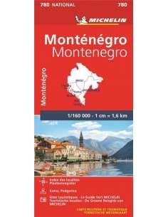MN 780 Montenegro térkép