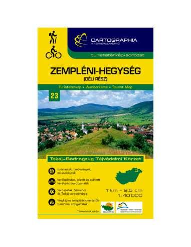 Zempléni-hegység (Dél) turistatérkép