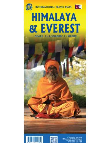 Himalaya & Everest - Himalája térkép
