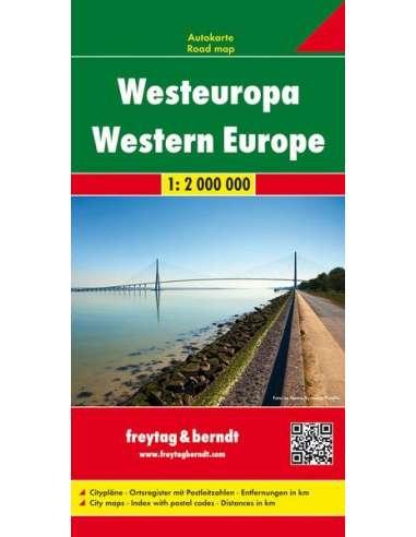 Western Europe - Nyugat-Európa térkép