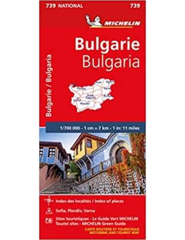 MN 739 Bulgária térkép