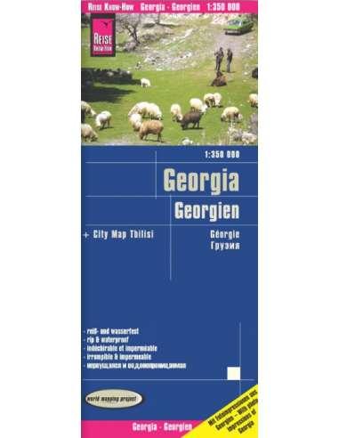 RKH Georgien - Georgia - Grúzia térkép