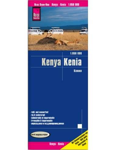 RKH Kenia - Kenya térkép