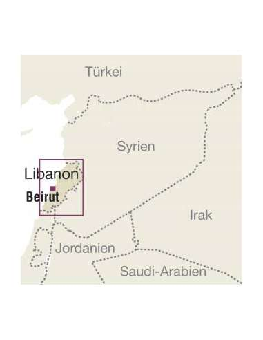 RKH Libanon mit Stadtplan Beirut -...