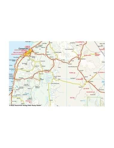 RKH Yucatán térkép
