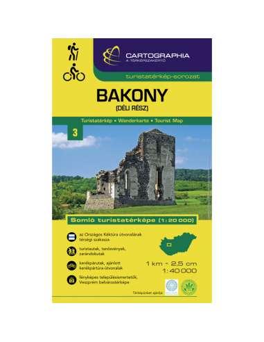 Bakony (Dél) turistatérkép