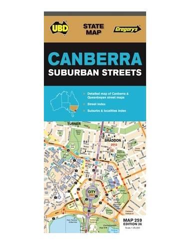 Canberra és környéke térkép