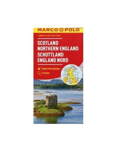 Skocia Eszak Anglia Terkep Marco Polo Schottland England