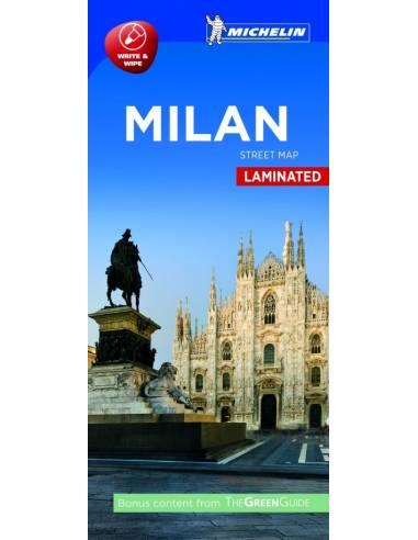 Milánó laminált térkép - Street Map