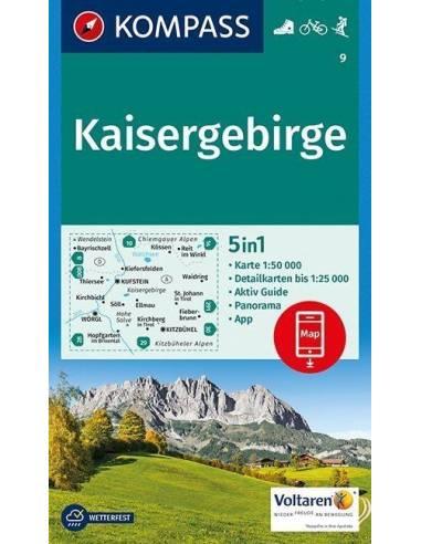 KK 9 Kaisergebirge turistatérkép