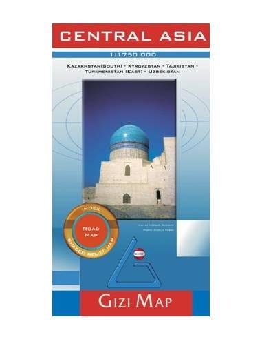 Central Asia - Közép-Ázsia autós térkép