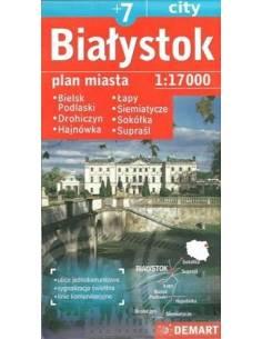 Białystok +7 település térkép