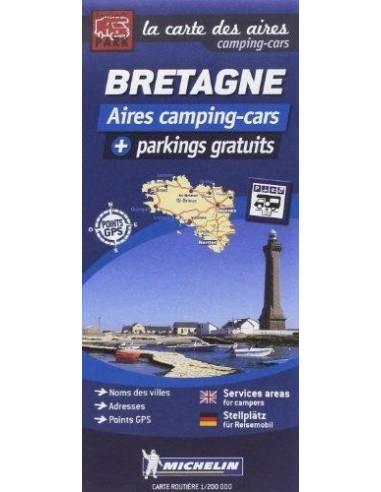Bretagne lakókocsival térkép -...