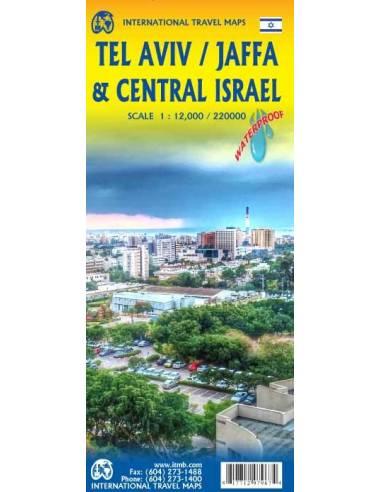 Tel Aviv, Jaffa & Central Israel térkép