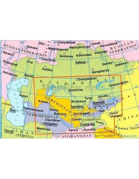 Central Asia Kozep Azsia Autos Terkep