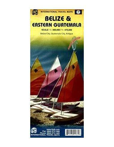 Belize & Eastern Guatemale travel map