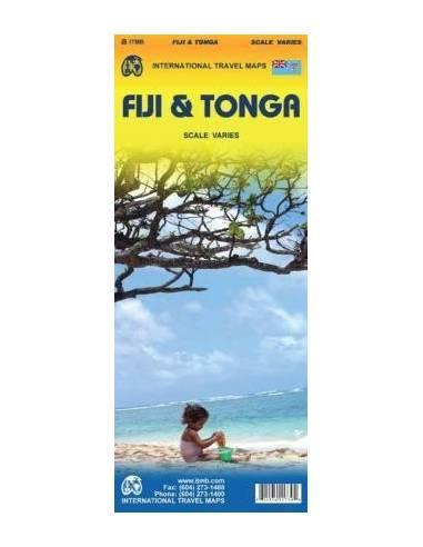 Fiji & Tonga térkép